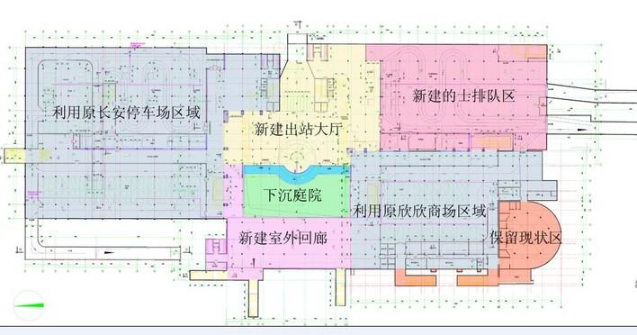 火车站规划平面图