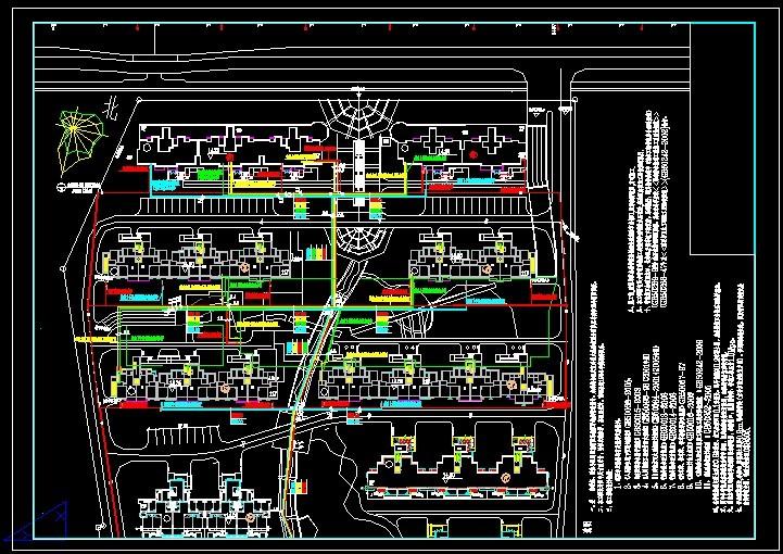 消火栓,喷淋室外总平面图_CO土木v土木(原网易装配式图纸建筑结构图片