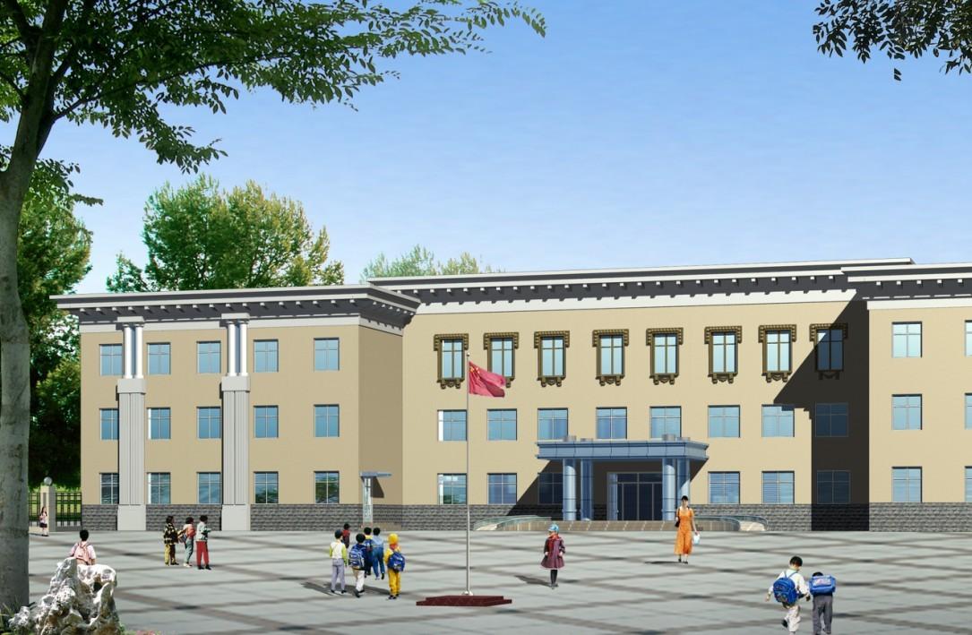 小学教学楼,欧式风格 相关专题:小学教学楼小学教学楼设计小学教学楼