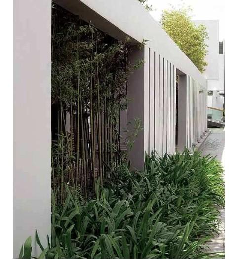 江苏某街道现代中式景观墙(做法)施工图 中式园林别墅全套设计(带地下