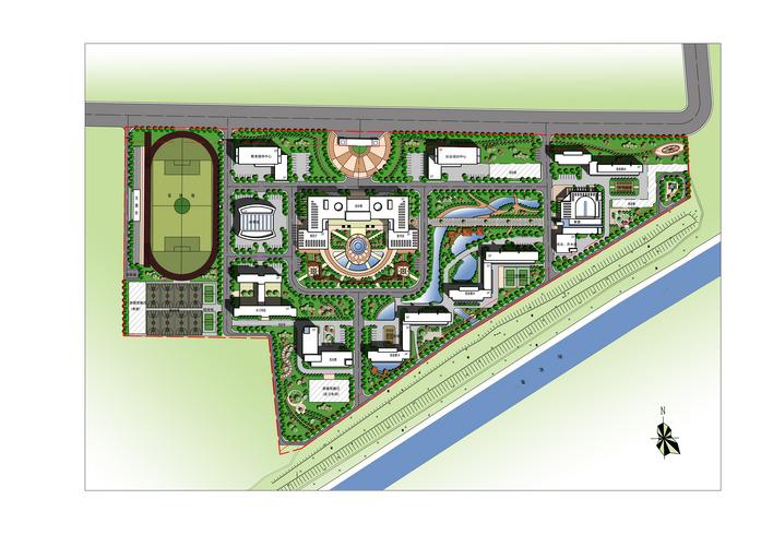 金乡县职业技术学校总平面图