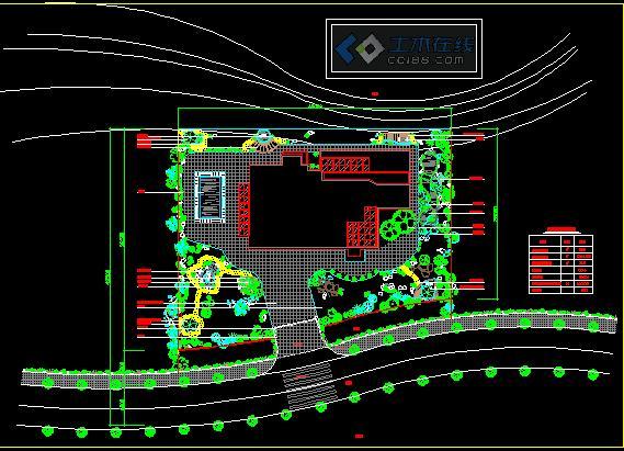 房屋外围绿化平面图