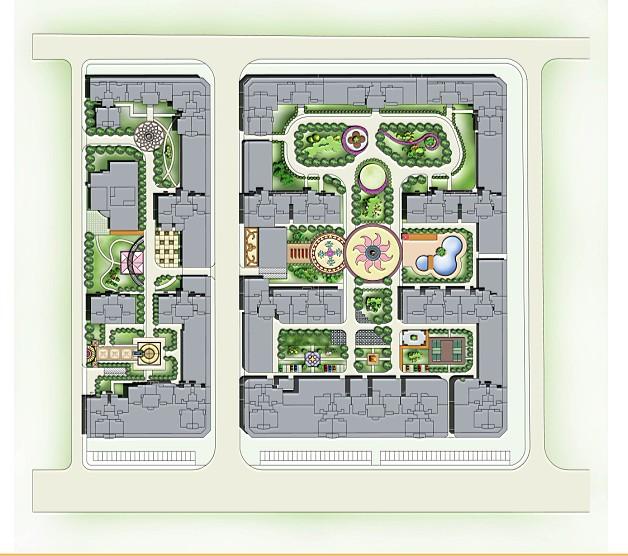 彩平图块 园林彩平图素材 室内彩平图素材 园林景观彩平图素材 小区总