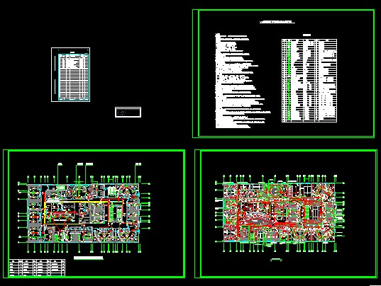 四层ktv装饰装修工程电气设计图
