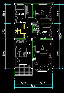 图纸 建筑图纸 别墅图纸 别墅设计方案 三层联体别墅施工图  上传时间