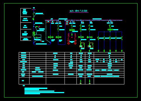 简介:某泵站电气一次接线图,变压器容量400kva,装机两台潜水泵,配套电