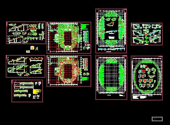 某中学体育馆的全套施工图(含总图,建筑,结构,水电暖,共95张) 湖北某图片