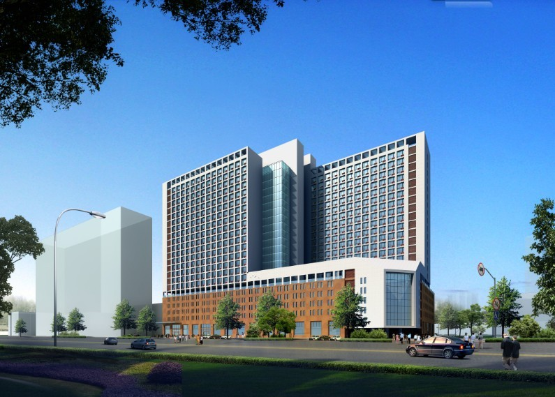 高层医院综合楼方案 平面立面效果图高清图片