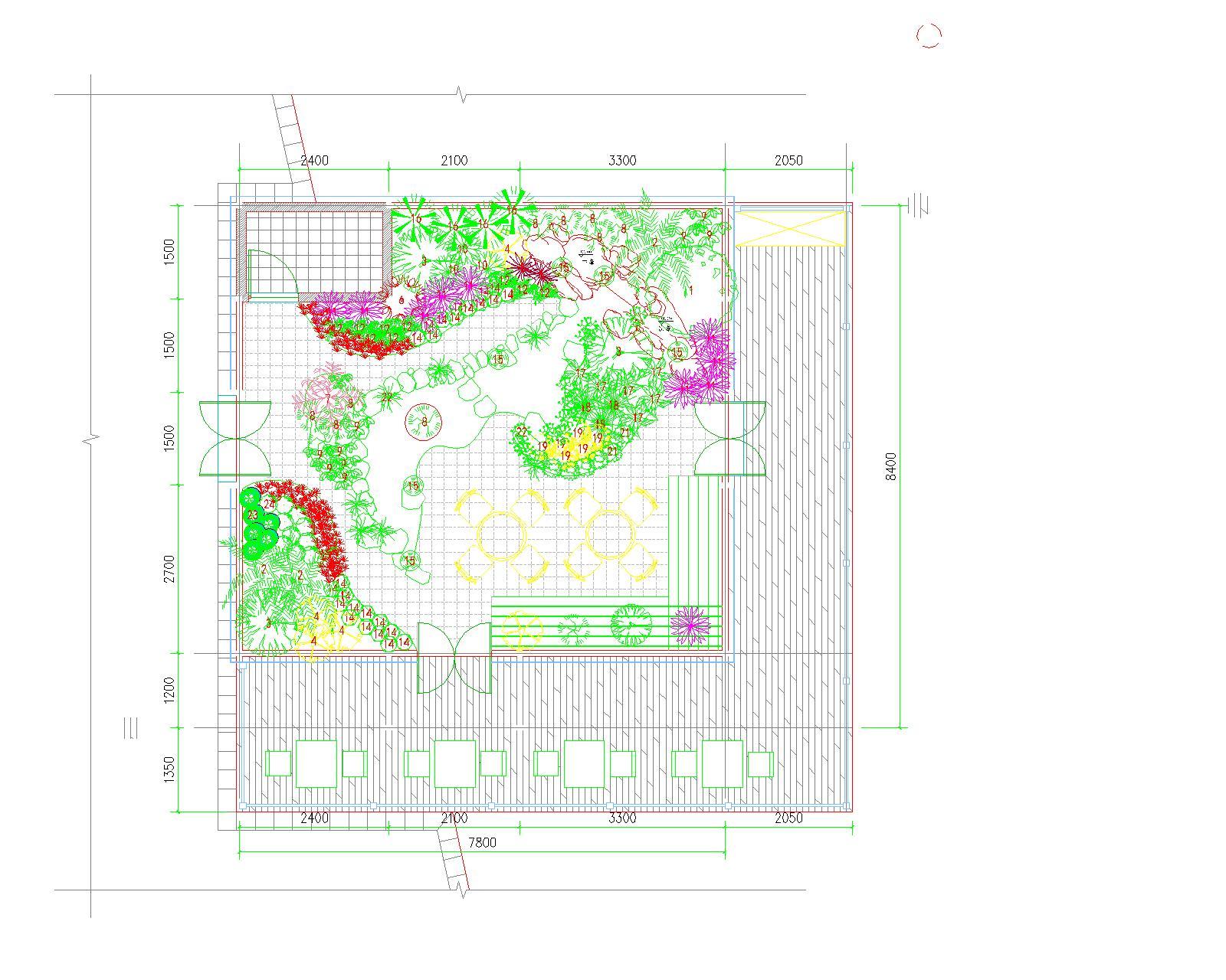 南方植物观赏花房布置平面图