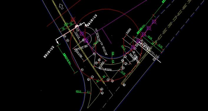 道路交叉口平面设计图