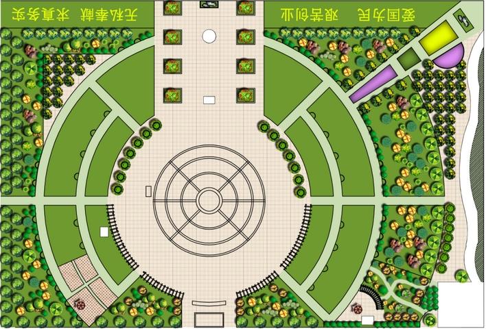植物彩色平面图 彩色户型平面图 cad彩色平面图  所属分类:广场绿化