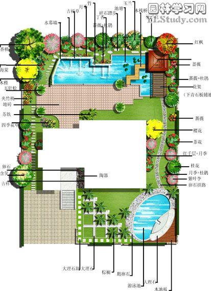 一别墅景观设计_cad图纸下载-土木在线