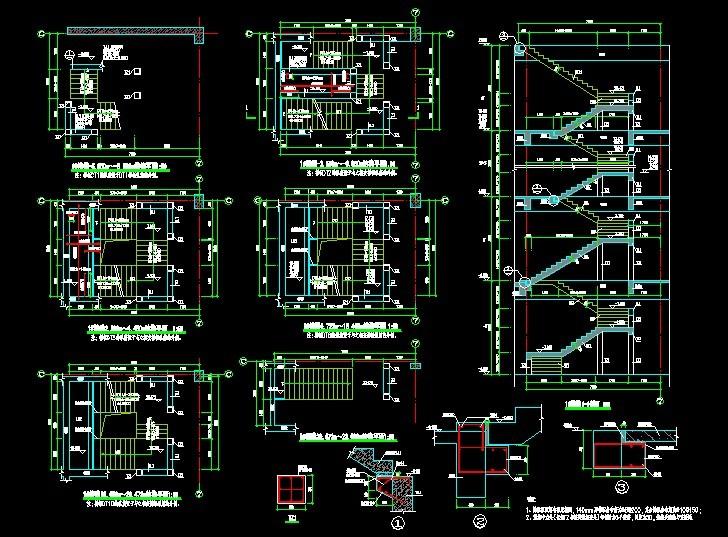 弧形楼梯平面图_图片素材