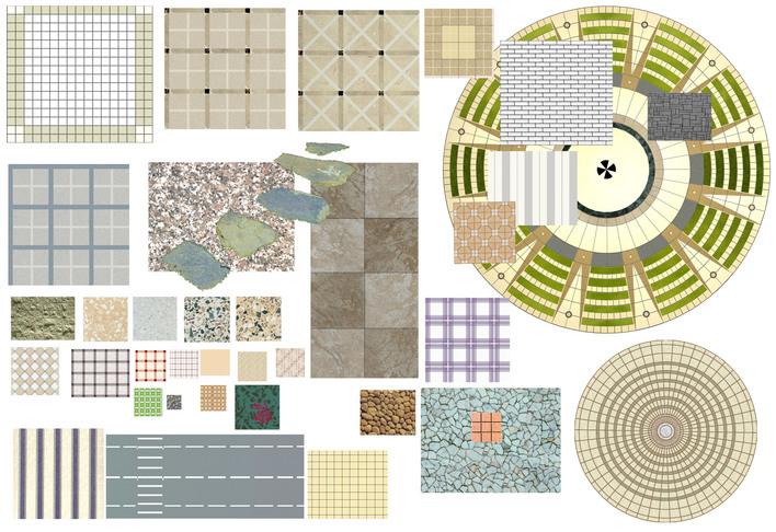 ps圆形平面广场