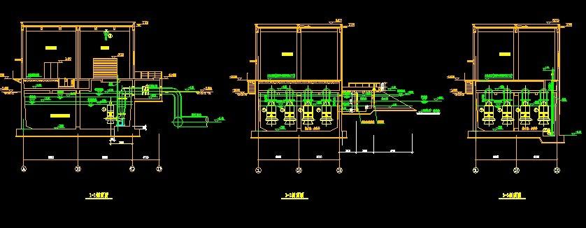 雨水泵房剖面   雨水泵房剖面图  相关专题:雨水泵房 雨水泵房设计图片