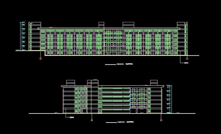学校教学楼立面设计_cad图纸下载-土木在线