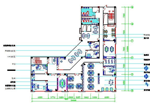 某办公空间设计_cad图纸下载-土木在线图片