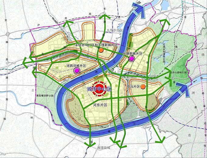 湘潭市城市空间发展规划
