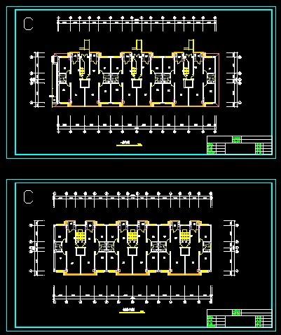 【住宅设计】住宅设计平面图_cad图纸下载_土木在线