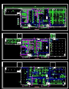 暖通设计图  电路板厂中央空调风管图纸