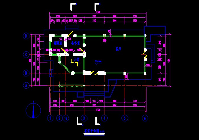 某茶室平面图