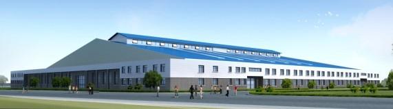 跨度门式钢架高科技产品厂房,钢结构,框架结构的结合,办公,展示,生产