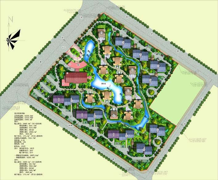 50张各种风格彩色总平面图(含部分景观设计图) 重庆大渡口紫花园规划