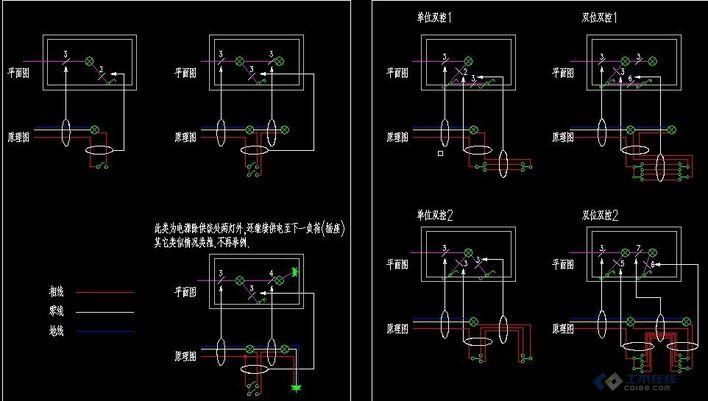 家庭用电电路图 家庭双开安装电路图 家庭双控开关电路图