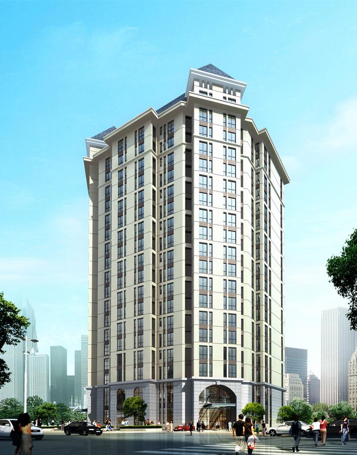 高层公寓楼效果图; 图纸 建筑图纸 公寓楼; 高层公寓楼效果图图片分享