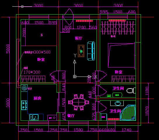 北方自住房设计,有炕,锅炉,80平方 价格: 20土木币vip: 10 土木币图片