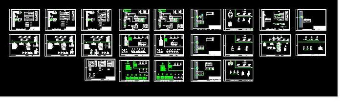 原理图和接线图 合肥华润·橡树湾小区高压配电房电气全套设计施工图