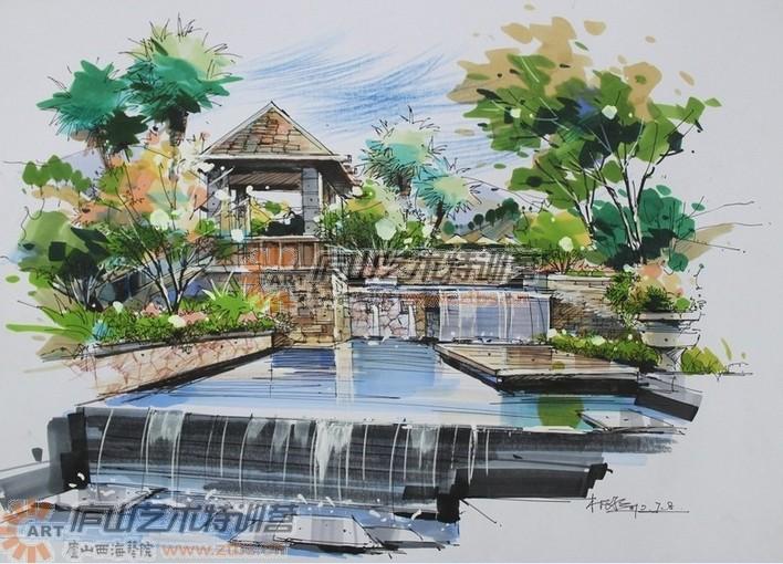 包括景观,建筑,室外 2007年建筑学手绘作品大赛作品 2006中国手绘建筑