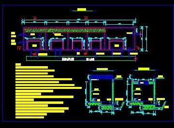 工业供水用138方梯级沉淀池结构设计图(cad图纸下载)
