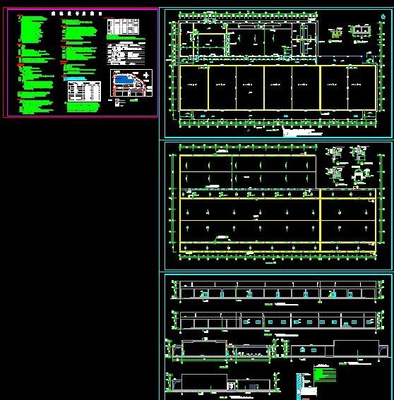 一层框架结构车间_cad图纸下载-土木在线