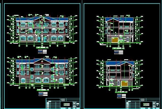 欧洲豪华别墅建筑图纸