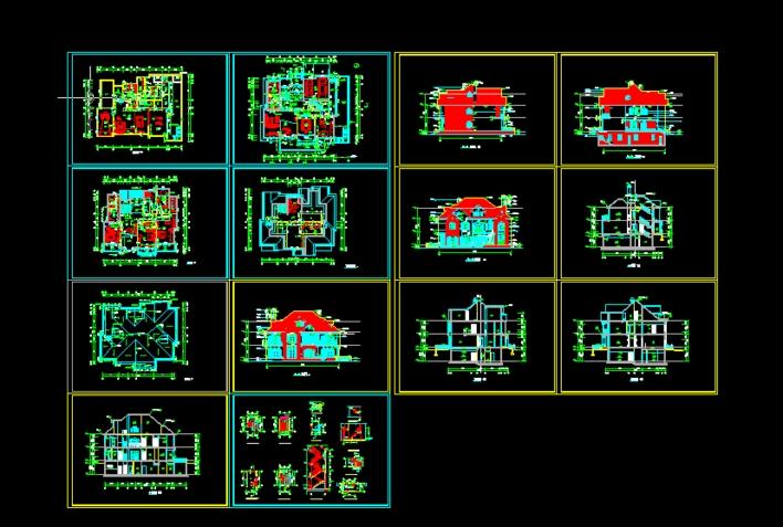 三层高档别墅设计图
