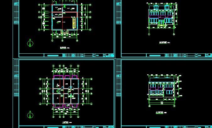 """各种建筑""""小模块""""(节省画图时间) cad画图步骤 cad用布局画图标准图层"""