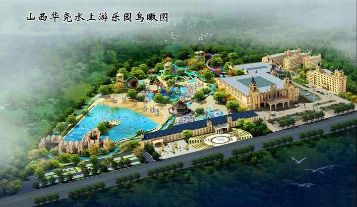 某水上乐园绿地环境设计图