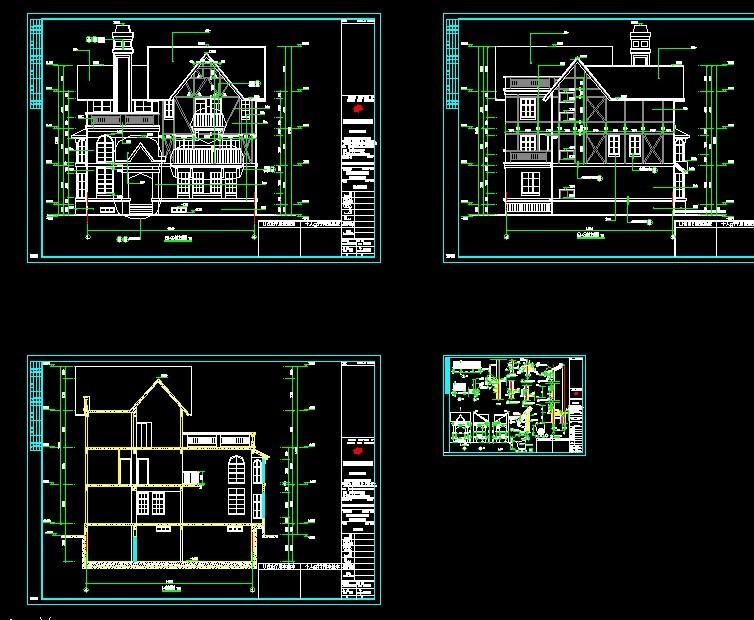 别墅图纸双栋别墅图高档欧式别墅设计图单栋别墅平面图单栋别墅设计图