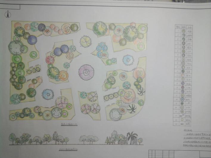 街头小游园平面设计图图片