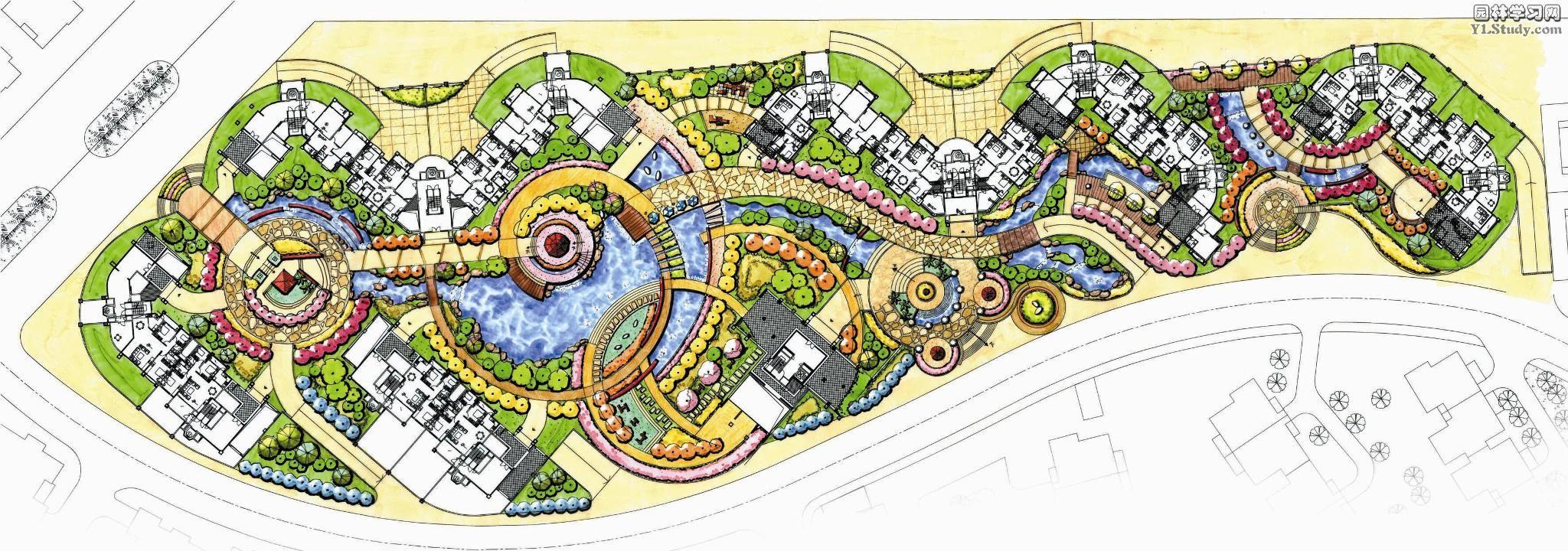 园林景观效果图  园林景观平面效果图(平面效果图)  奥林匹克花园