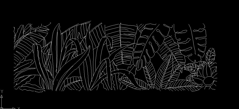 cad图库 热带植物 立面