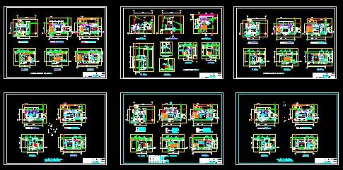 风冷热泵中央空调机房图,专业图纸   相关专题:空调机房设计 空调