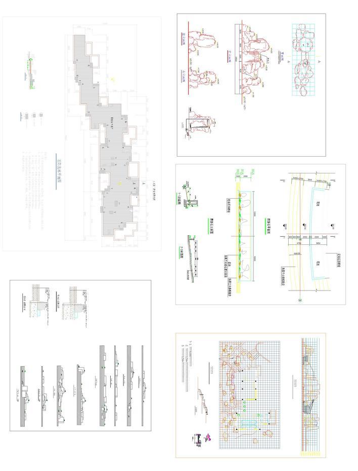 置石cad设计施工图(含平面