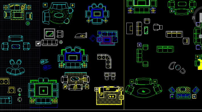 CAD室内家具土木_CO图纸v家具(原网易土木在定州家具东明店图片