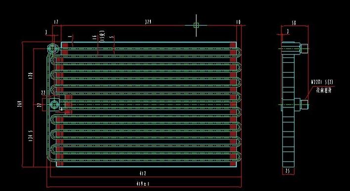 冷库制冷安装图(冷库制冷)  汽车空调图纸   汽车空调 3000w冷凝器