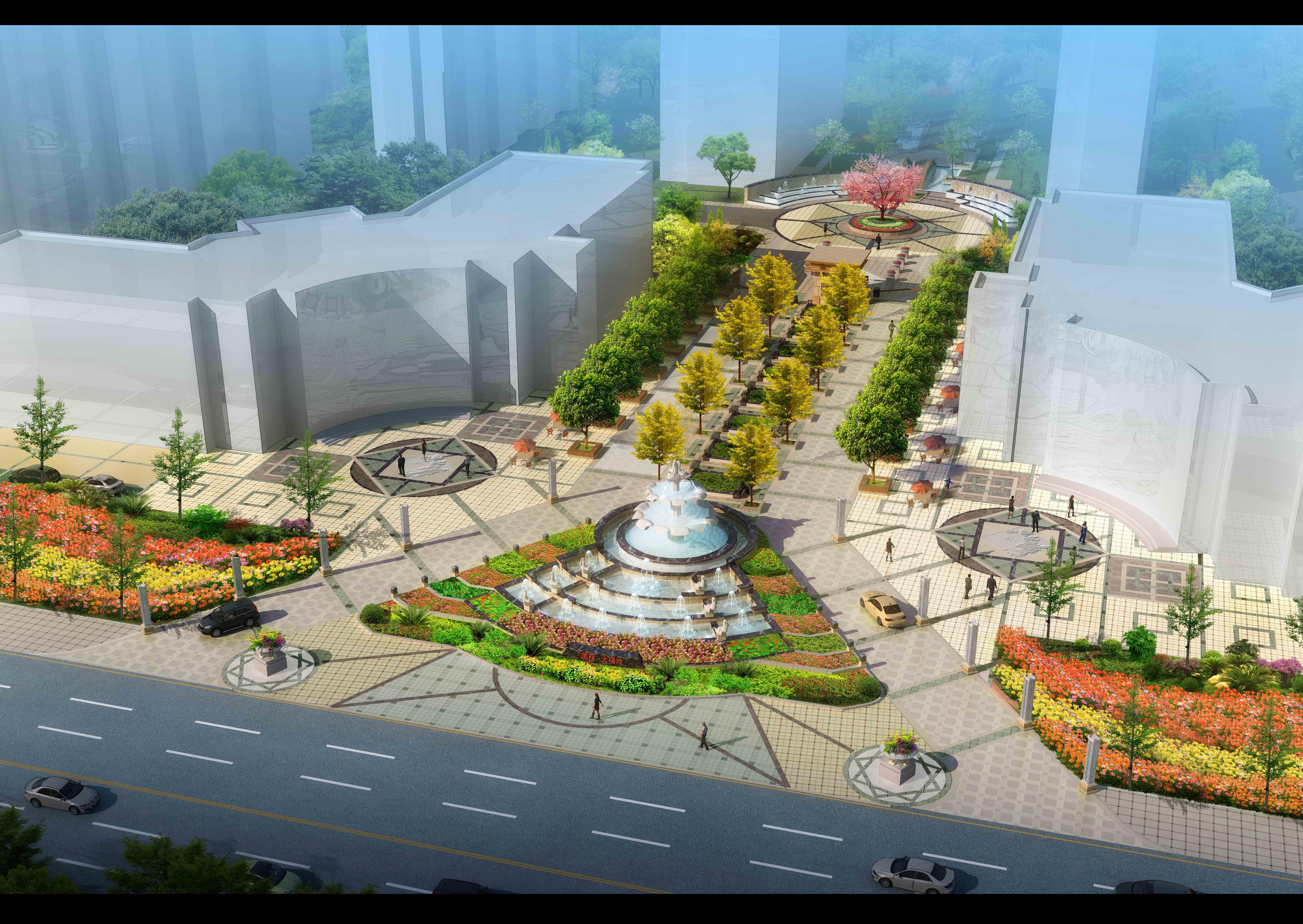 小区入口景观设计 居住小区入口景观设计 小区入口景观设计cad 别墅小