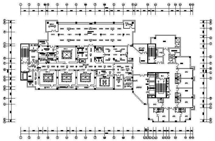 空调施工设计图,图纸包括手术部风管布置图