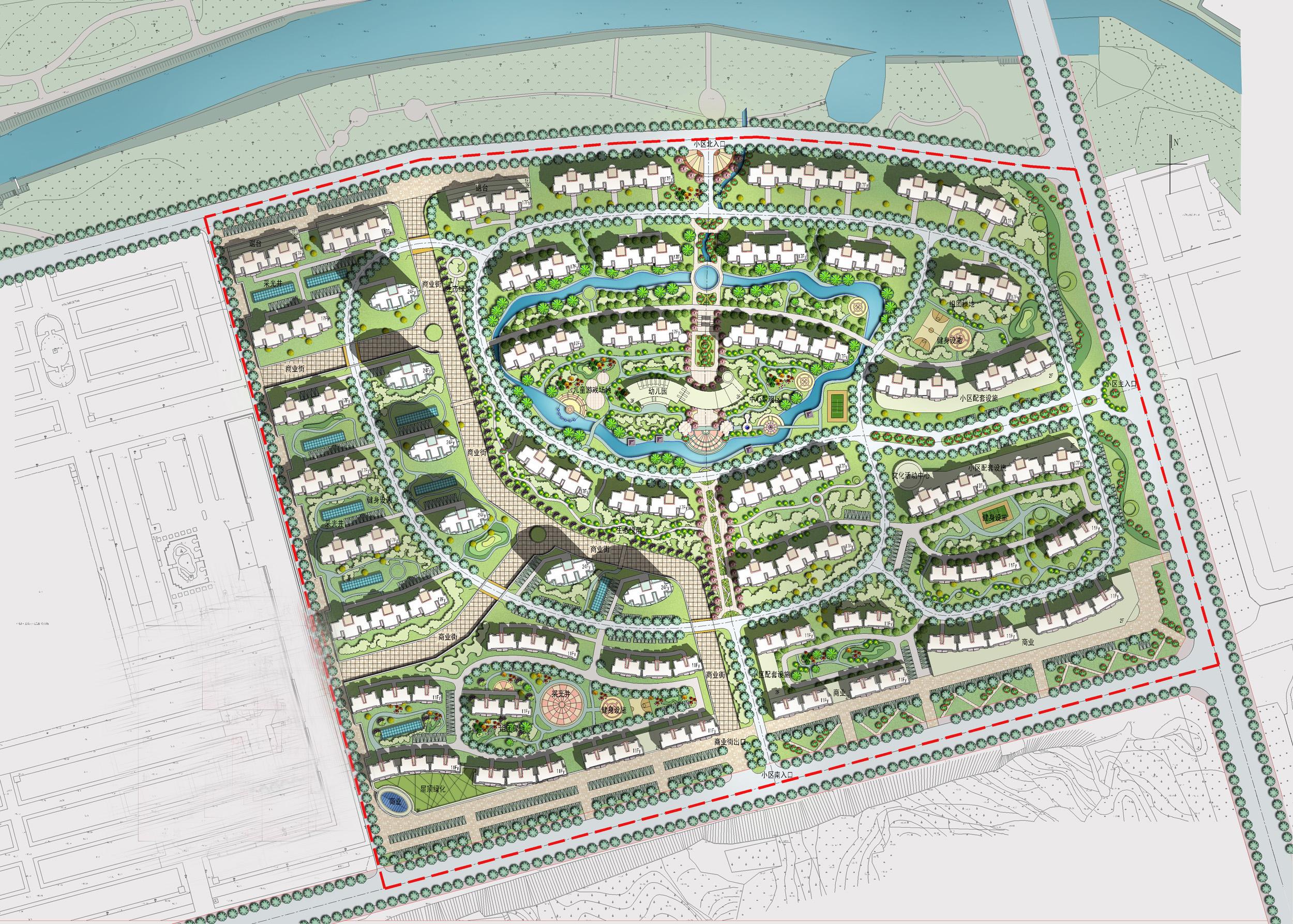 布局灵活的小区规划图-吉林规划图
