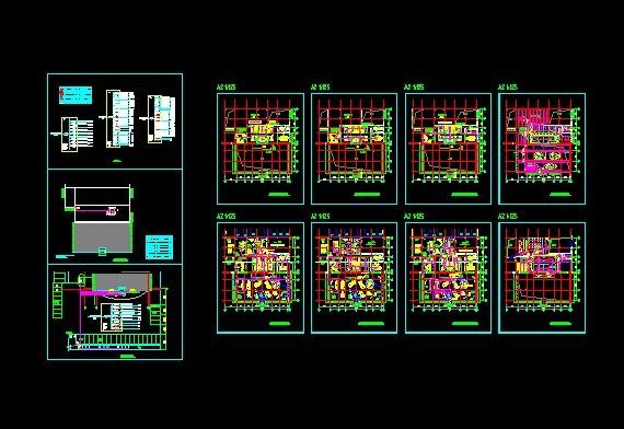 汽车展厅设计cad图 汽车展厅图 汽车展厅设计  所属分类:商业建筑